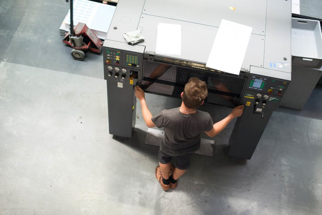 Offsetdruckmaschine - Kartendruck - exceet Card Group
